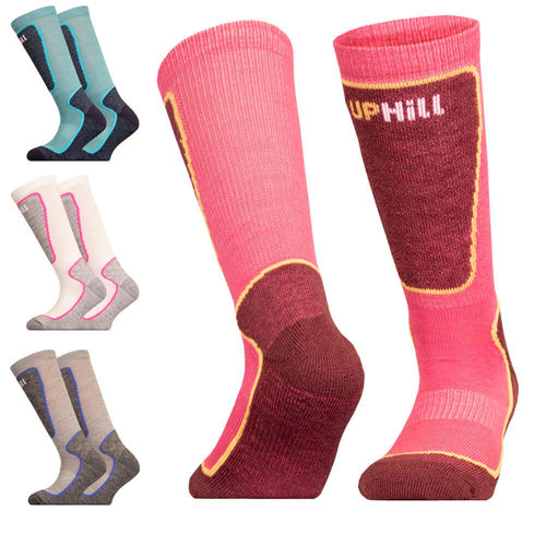 UphillSport Valta Junior Alpine Ski 4-layer Shin Cushioned M5 Sock with Merino