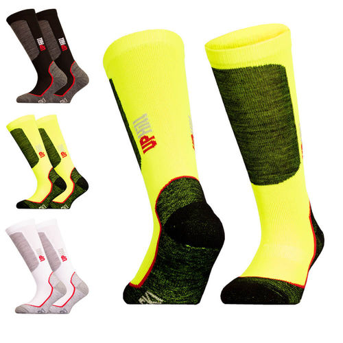 UphillSport Halla Junior Alpine Ski Pro 4-layer Shin Cushioned L3 Sock with Merino and Quick Dry